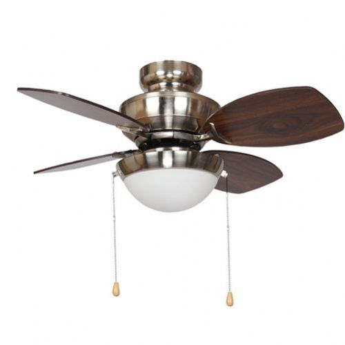 "Fantasia Kompact Combi 28"" Brushed Nickel Ceiling Fan +  Light 115557"